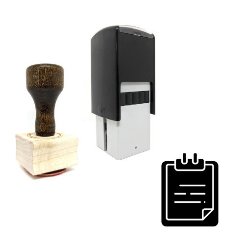 """""""Paste Chart"""" rubber stamp with 3 sample imprints of the image"""
