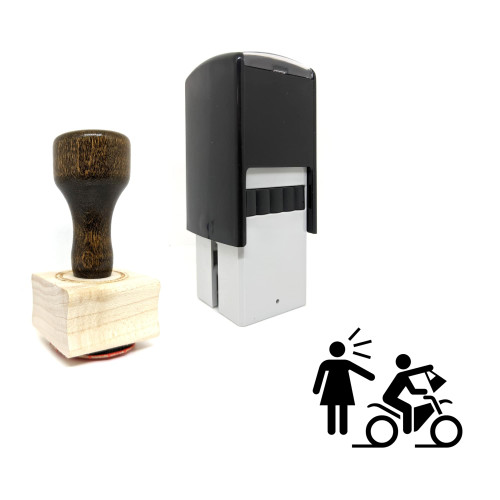 """""""Snatch Theft"""" rubber stamp with 3 sample imprints of the image"""