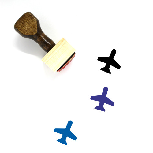 Airplane Wooden Rubber Stamp No. 75