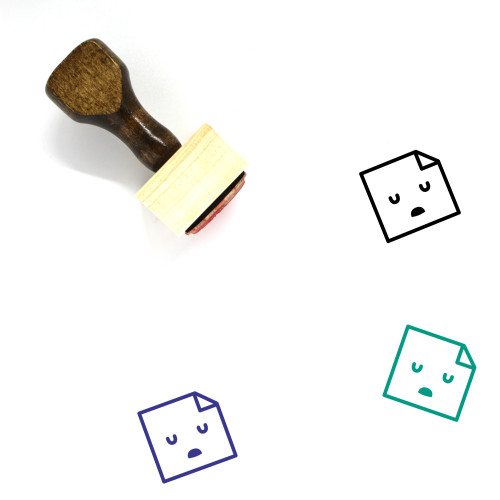 Dull Wooden Rubber Stamp No. 6