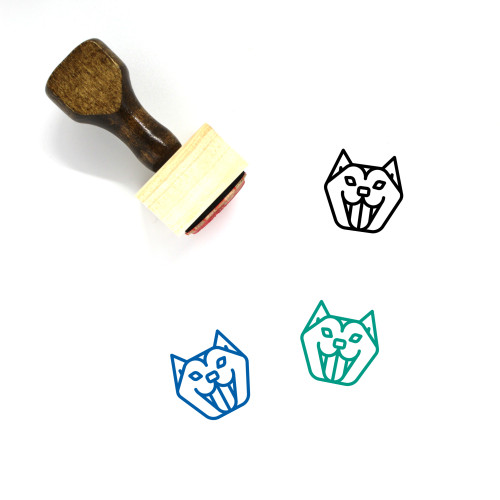 Husky Wooden Rubber Stamp No. 1