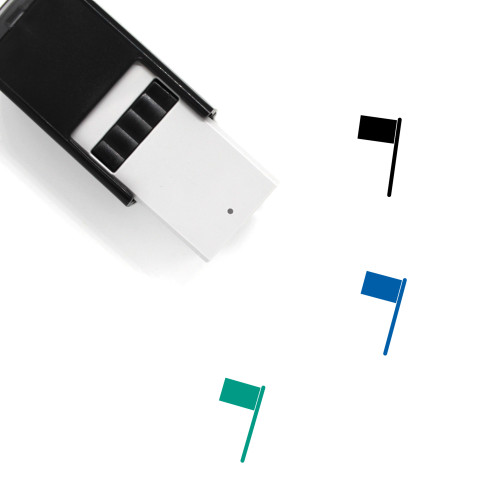 Flag Self-Inking Rubber Stamp No. 348