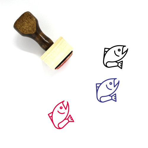 Fish Wooden Rubber Stamp No. 85