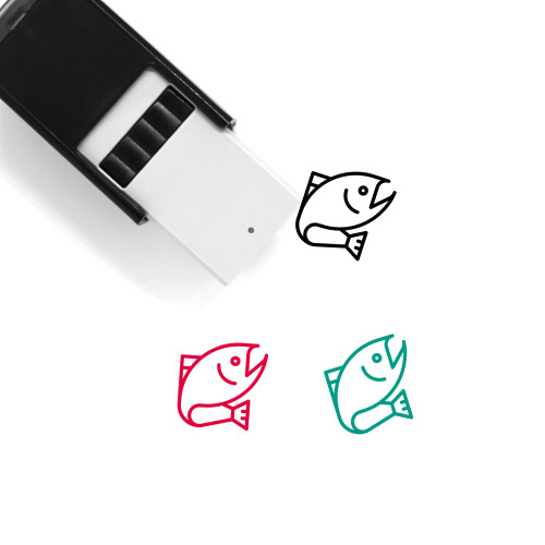 Fish Self-Inking Rubber Stamp No. 83