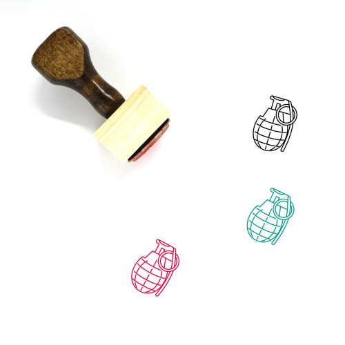 Grenade Wooden Rubber Stamp No. 6