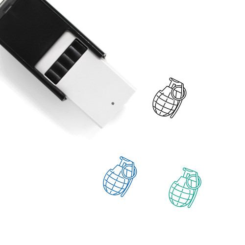 Grenade Self-Inking Rubber Stamp No. 6