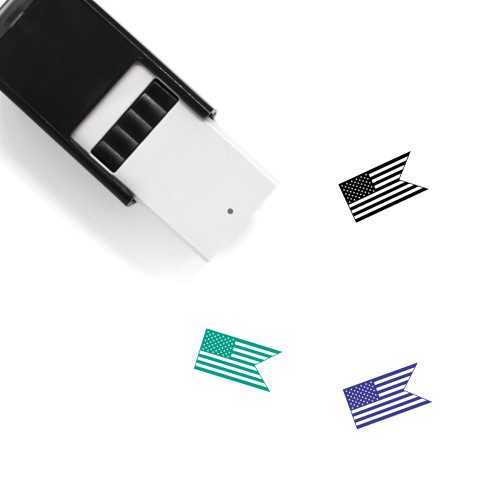 American Flag Self-Inking Rubber Stamp No. 19