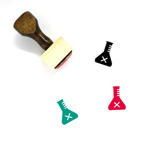 Flask Wooden Rubber Stamp No. 9