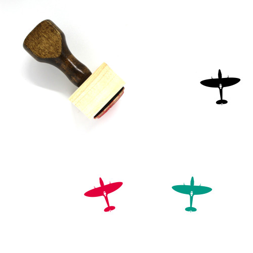 Airplane Wooden Rubber Stamp No. 79