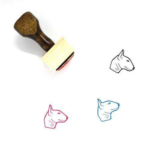 Miniature Bull Terrier Wooden Rubber Stamp No. 1