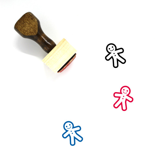 Gingerbread Man Wooden Rubber Stamp No. 8