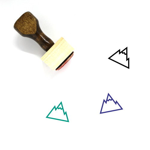 Mountain Wooden Rubber Stamp No. 30