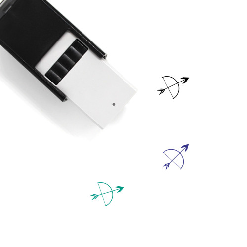 Bow And Arrow Self-Inking Rubber Stamp No. 1