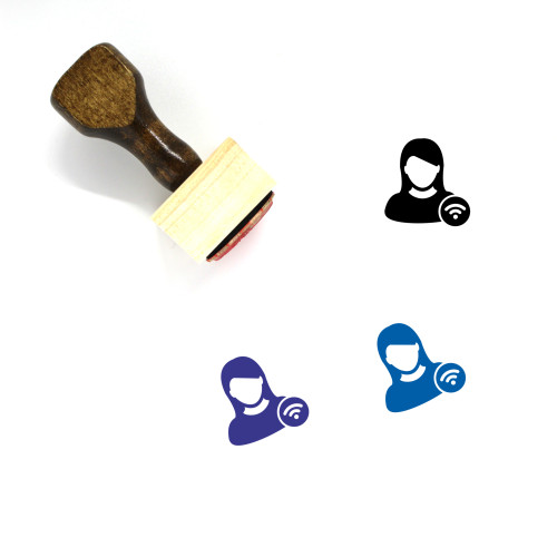 Wifi User Wooden Rubber Stamp No. 9