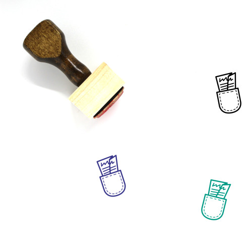 Pocket Constitution Wooden Rubber Stamp No. 1