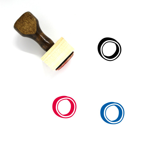 Circle Wooden Rubber Stamp No. 1