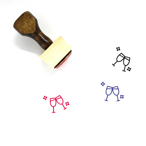 Cheers Wooden Rubber Stamp No. 3
