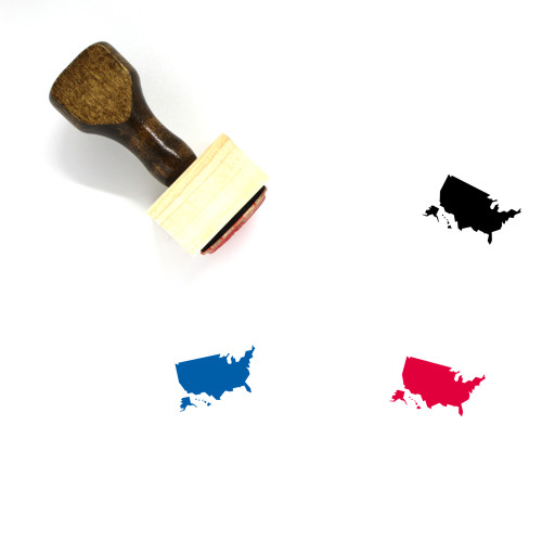 United States Of America Wooden Rubber Stamp No. 6