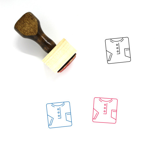 Tshirt Wooden Rubber Stamp No. 55