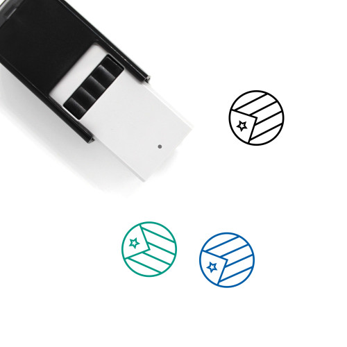 Puerto Rico Flag Self-Inking Rubber Stamp No. 1
