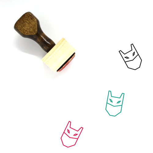 Mask Wooden Rubber Stamp No. 19