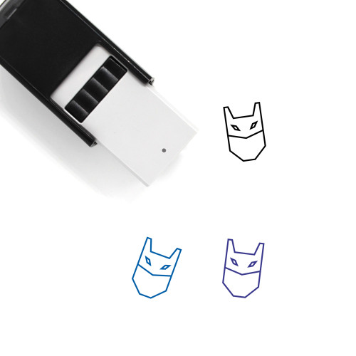 Mask Self-Inking Rubber Stamp No. 19