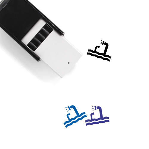 Periscope Self-Inking Rubber Stamp No. 3