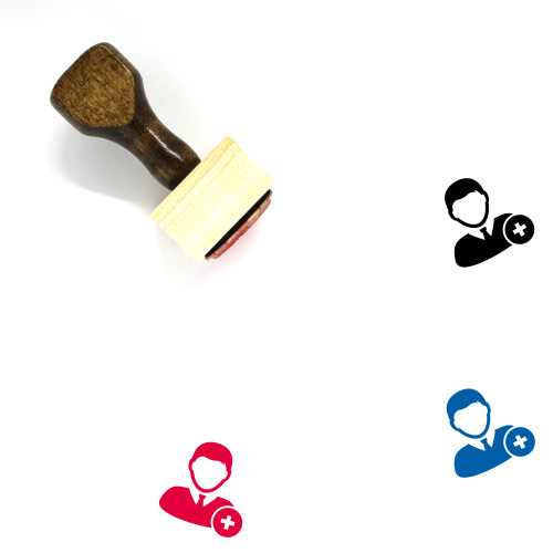 Add User Wooden Rubber Stamp No. 15