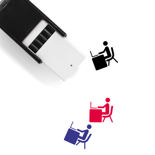 Work Self-Inking Rubber Stamp No. 76