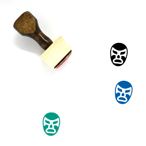 Luch Libre Wooden Rubber Stamp No. 1