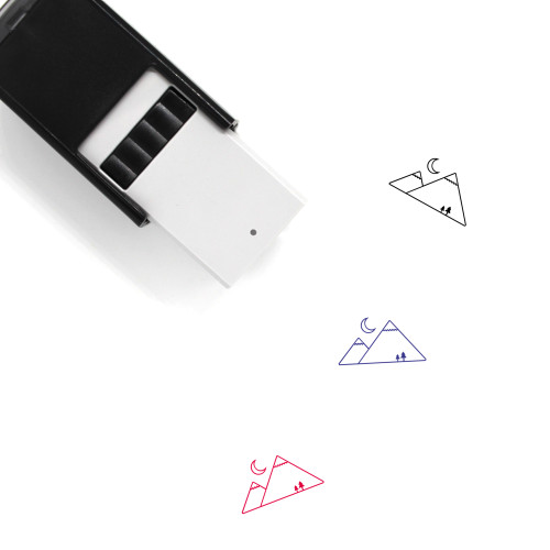 Mountains Self-Inking Rubber Stamp No. 25