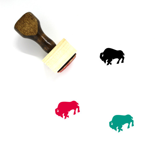 Buffalo Wooden Rubber Stamp No. 1