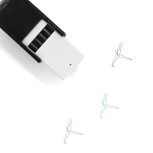 Yoga Self-Inking Rubber Stamp No. 26