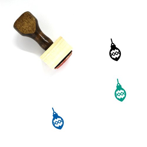 Christmas Ornament Wooden Rubber Stamp No. 30