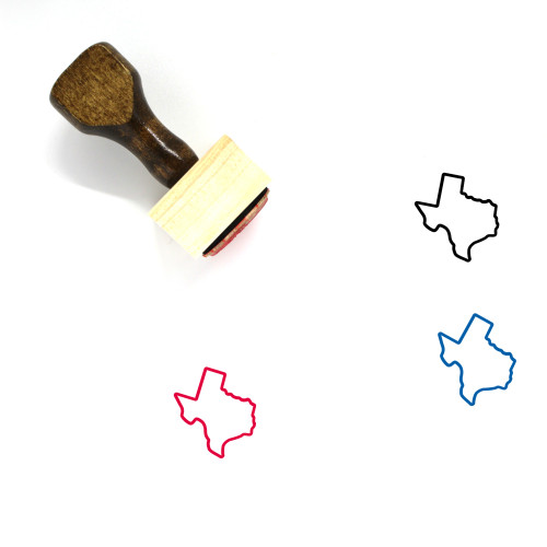 Texas Wooden Rubber Stamp No. 13