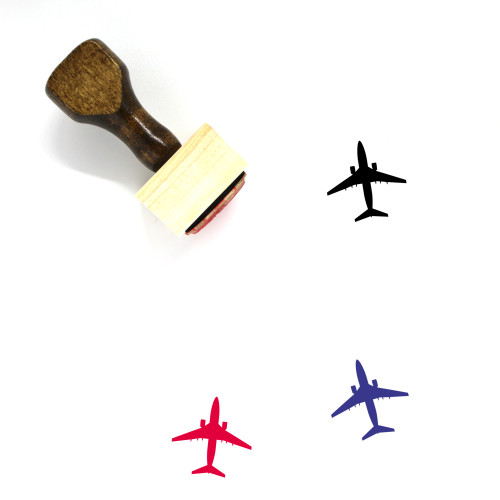 Airplane Wooden Rubber Stamp No. 84
