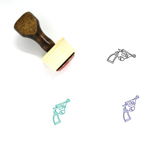 Revolver Wooden Rubber Stamp No. 1