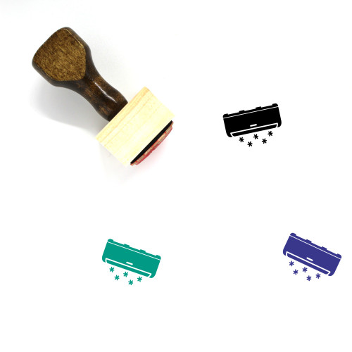 Mini Split Wooden Rubber Stamp No. 2