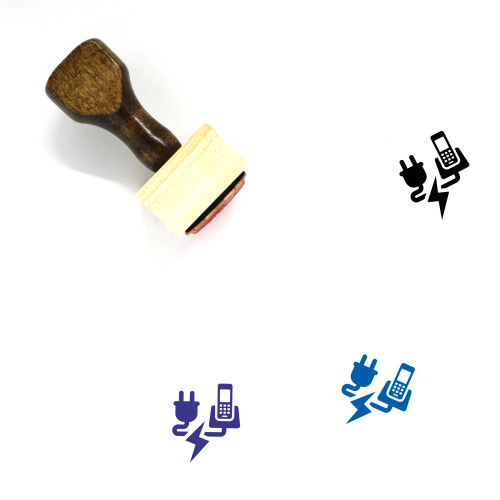 Telephony Wooden Rubber Stamp No. 1