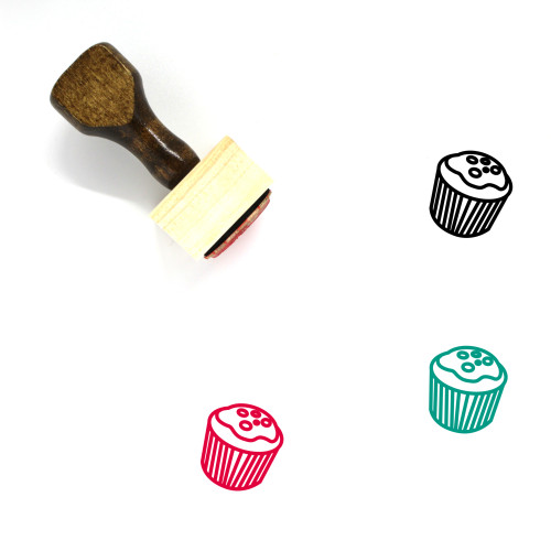 Cupcake Wooden Rubber Stamp No. 19