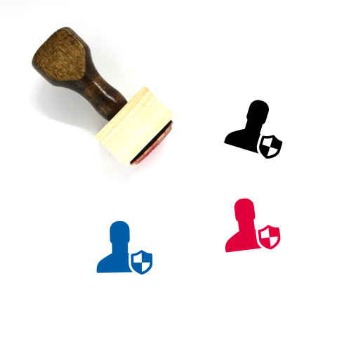 Admin Wooden Rubber Stamp No. 4