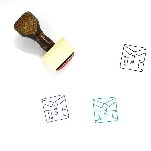 Shirt Wooden Rubber Stamp No. 29