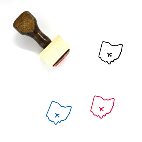 Ohio Wooden Rubber Stamp No. 8