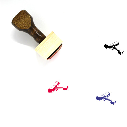Airplane Wooden Rubber Stamp No. 86