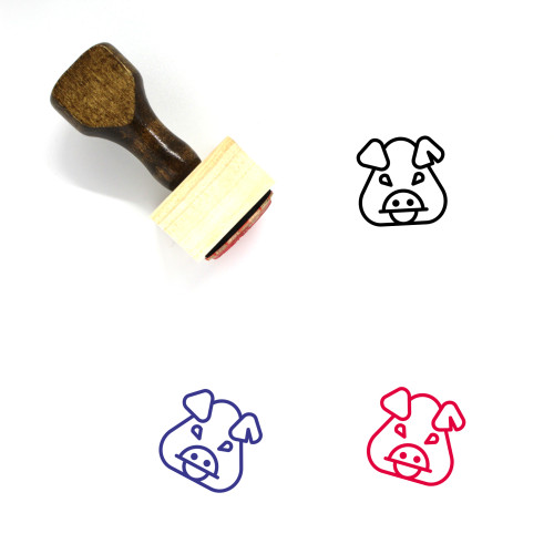 Pike Place Pig Wooden Rubber Stamp No. 1