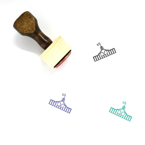 Canberra Parliament House Wooden Rubber Stamp No. 1