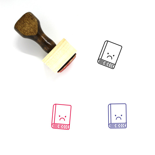 Book Wooden Rubber Stamp No. 246