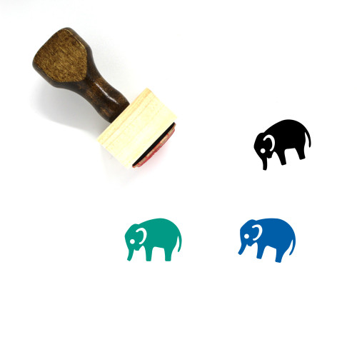Zoo Wooden Rubber Stamp No. 2