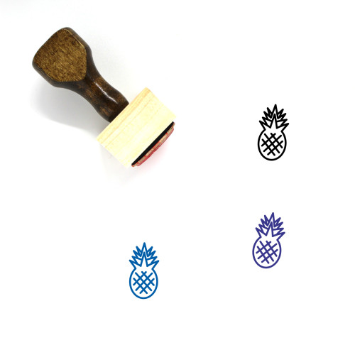 Pineapple Wooden Rubber Stamp No. 4