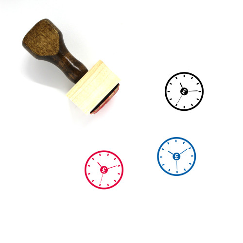 Time Is Money Wooden Rubber Stamp No. 5